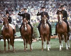 Ranskan voitokas joukkue Aachenissa 1979. D'Esme, Carde, Flament, Le Rolland